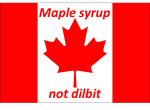 Maple syrup not dilbit