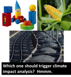 Corn, toys, and coal