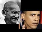 Gandhi Obama